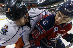 """Kansas City Mavericks vs. Kalamazoo Wings, January 5, 2018, Silverstein Eye Centers Arena, Independence, Missouri.  Photo: © John Howe / Howe Creative Photography, all rights reserved 2018. • <a style=""""font-size:0.8em;"""" href=""""http://www.flickr.com/photos/134016632@N02/39548716632/"""" target=""""_blank"""">View on Flickr</a>"""