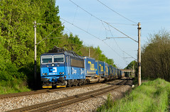 Walter-y (Nikis182) Tags: 363506 čdc škoda electric locomotive crr carbo rail brodské slovakia freight train walter trailer railway railroad