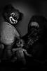 Happi-less (f@gra) Tags: happiness happy feliz felicidad urbex urban sony abandono abandoned abandonado abandonedspain abandonada indoor interiorismo interiordesign interior monochromatic monocromático juguetes toy muñeco payaso mono clown muñeca doll