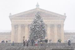 Holidays at the Museum (mhoffman1) Tags: christmas christmastree museumofart philaart philadelphia philly sonyalpha xmas a7r holidays museum seasonal snow snowfall snowy winter pennsylvania unitedstates us
