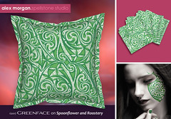 Celtic Warlord greenface (Spellstone) Tags: tattoo bodyart green fairy warrior blue woad spellstone spoonflower roostery art craft design surface pattern society6 alexmorgan pillow cushion phonecase textile fabric wallpaper totebag tote clock wallclock mug rug pouch laptopskin clothing apparel sewing curtains stpatricksday irish