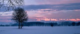 Gelida alba nella pianura Padana.