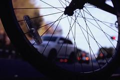 Med (Yosh the Fishhead) Tags: car olympus olympusom olympusom2n om2 om2n olympusom2 film filmphotography fujifilm fujichrome velvia velvia100 fujichromevelvia100 slide slidefilm zuiko macro zuikomacro zuikoautomacro50mmf35 zuikomacro50mmf35 50mm dof wheel bike bicycle bokeh silhouette