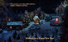 "Happy New Year (Millie Cruz * ""On and Off-Busy"") Tags: brandywinerailroad town christmas miniature display brandywinemuseumofart chaddsford pennsylvania modeltrains scalemodel happynewyear 2018 greeting card winter"