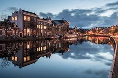 Mine's a Double (McQuaide Photography) Tags: haarlem noordholland northholland netherlands nederland holland dutch europe sony a7rii ilce7rm2 alpha mirrorless 1635mm sonyzeiss zeiss variotessar fullframe mcquaidephotography lightroom adobe photoshop tripod manfrotto light licht water reflection stad city urban waterside lowlight architecture outdoor outside waterfront building river spaarne riverside boat ship schip boot canalcruise cruise smidtjecanalcruise traditional authentic wideangle groothoek skyline house huizen residential sky lucht bluehour twilight schemering dusk longexposure