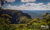 Mountain Path Pano (geekmasterzero) Tags: bluemountains australia bush calm natural cliff rock green land nature