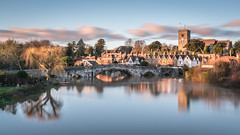 Aylesford Old Town (Nathan J Hammonds) Tags: kent aylesford medway bridge old town river trees water clouds church sky long exposure nd filter 10stop peaceful beautiful landscape nikon d750 2485mm hdr