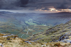 The Hidden Fort (Benjamin Driver) Tags: hardknott hardknottpass hard knott pass roman fort romanfort cumbria lakedistrict lake district valley hills hill sunset green road high canon sigma cloud clouds landscape england britain uk summer 2017 camping orange scape rock west depth