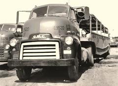 GMC F350, FJ Boutell #C3520 (PAcarhauler) Tags: carcarrier semi truck trailer tractor buick gmc coe