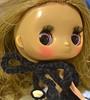 Dollcena Takara Tomy Doll in Handknit Pencil Dress made with Sock Yarn - Beaded I-cord Halter (Clarice.Asquith) Tags: takara tomy doll dollcena pencil dress cord halter knittinting beaded fashion miniature knitting round