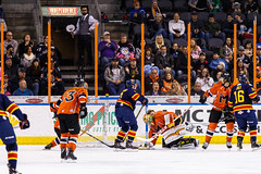 "Kansas City Mavericks vs. Colorado Eagles, December 16, 2017, Silverstein Eye Centers Arena, Independence, Missouri.  Photo: © John Howe / Howe Creative Photography, all rights reserved 2017. • <a style=""font-size:0.8em;"" href=""http://www.flickr.com/photos/134016632@N02/25271500378/"" target=""_blank"">View on Flickr</a>"