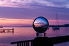 Glass Ball Yacht (Sterling67) Tags: kilaben bay sunrise cloud pier dock water lakemacquarie glass ball 2470 7d yacht