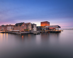 Performing Arts Theater in the Evening, Copenhagen, Denmark (ansharphoto) Tags: architectural architecture art bank building canal capital channel city cityscape copenhagen culture danish denmark europe european evening exterior facade harbor history house iconic illuminated landmark leisure lights modern monument night outdoor playhouse quay royal scandinavia scandinavian sea seaside skuespilhuset skyline street theater tourism town travel twilight urban venue view water