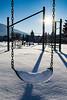 Winter Break (LadyBMerritt) Tags: swing playground sun winter ice icycles