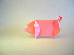 Pig - Jim adams (Rui.Roda) Tags: origami papiroflexia papierfalten cochon cerdo porco pig jim adams