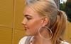 Sophie (o.solemio) Tags: photo n° 428 minoosolemio portrait ragazza bionda labbra rosse sorriso orecchino cerchio capelli legati ritratto profilo aperto leicavlux
