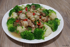 [self cook] Last self cook dish for 2017 (Ken Goh thanks for 2 Million views) Tags: selfcook home cooking pork broccoli scallop prawns photography macro pentax k1 da35 f28