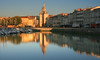 Seaport reflections (Steve M Photography) Tags: france charentemaritime larochelle sea ocean bayofbiscay waterreflections waterfront reflectionsinwater reflections resort tourism holiday vacation ancient historic history