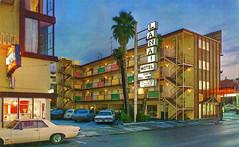 Lanai Motel, San Francisco, California (Thomas Hawk) Tags: america california lanai lanaimotel sanfrancisco usa unitedstates unitedstatesofamerica vintage auto automobile car motel neon postcard fav10 fav25