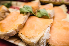 smoked salmon on bread and cream cheese spread for snacking (DigiDreamGrafix.com) Tags: cream salmon cheese smoked table white closeup fresh healthy raw food cuisine delicious appetizing breakfast snack menu restaurant vegetable dinner lunch eat pepper fish gourmet seafood bread appetizer prepared starter savory sandwich bagel butter serve chives
