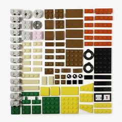 41587 Knolled (coffeetablebricks) Tags: lego brick bricks knoll knolled knolling 41587 robin brickhead brickheadz batman movie set pieces organization color shape