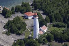 Cove Island Lighthouse (blueheronco) Tags: tobermoryislands fathomfivenationalmarinepark lakehuron georgianbay island ontario canada coveisland gigpoint coveislandlighthouse lighthouse