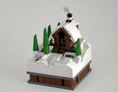 Cabin (dviddy) Tags: lego moc afol afols cabin micro microscale mini snow smoke trees minimoc deevee dviddy system cabininthewoods winter christmas pnw santa