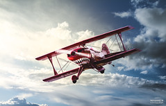 Pitts Special S1 OH-XPF (>>Marko<<) Tags: lentokone lentonäytös pittsspecial ohxpf aerobatics aeroplane aviation ilmailu aircraft airshow joensuu onttola suomi finland teeth shark mouth cloud efjo