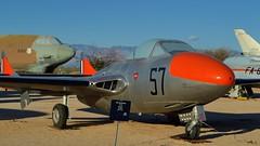 RAAF De Havilland DH.115 Vampire Mk.35 trainer, 1954 - Pima Air & Space Museum, Tucson, Arizona. (edk7) Tags: nikond3200 edk7 2013 usa arizona tucson arizonaaerospacefoundation pimaairspacemuseum royalaustralianairforce raaf dehavillandaircraftptyltd dha dehavillanddh115vampiremk35 dehavillanddh115vampiret35 sna79661 1954 twoseat jet trainer aircraft aviation plane airplane vehicle military dehavillandgoblin33turbojet3500lbf