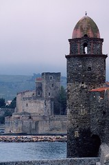 COLLIOURE ROYAL CASTLE AND NOTRE DAME DES ANGES CHURCH BELL TOWER (patrick555666751 THANKS FOR 4 000 000 VIEWS) Tags: collioureroyalcastleandnotredamedesangeschurchbelltower collioure royal castle and notre dame des anges church bell tower clocher cotlliure chateau real chiesa eglise igreja iglesia france europe europa pays catalan paisos catalans roussillon rossello catalunya catalogne pyrenees orientales our lady of angels ourladyofangels mediterranee mediterraneo mediterranean catalonia cote vermeille