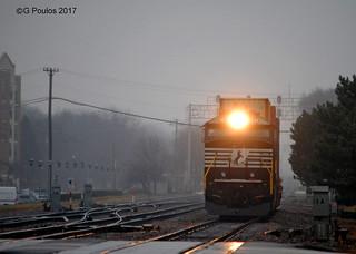 NS SD60E BNSF_0071 12-18-17