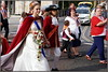 William and Mary (* RICHARD M (6.5+ MILLION VIEWS)) Tags: street candid portraits portraiture streetportraits streetportraiture candidportraits candidportraiture williamandmary kingbilly orangeorder orangmensday orangelodge loyalorangelodge lol parades fancydress wannabes periodcostumes marches marchers processions kingwillian111 princeoforange cloak bouquet orangesashes 12thjuly sectarianism triumphalism smiles couples bigotry southport sefton merseyside daytrippers sunnysouthport