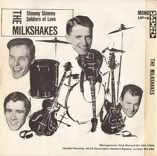 The Milkshakes - Soldiers of love-Shimmy Shimmy 45rpm (back cover)