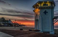 On the Boardwalk (tquist24) Tags: california hdr lagunabeach mainbeach nikon nikond5300 pacificocean beach boardwalk clouds geotagged lifeguardtower longexposure morning ocean sand sky sunrise water unitedstates