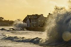 The Storm Carmen hitting « l'Ile Tudy ». Finistère, France. 2018/01/01. (joelgambrelle) Tags: nikond500 sea mer tempête bretagne breizh finistère france penarbed storm carmen eneztudy