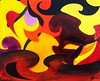 The Dance of Flames (bribaang) Tags: warmcolors abstract