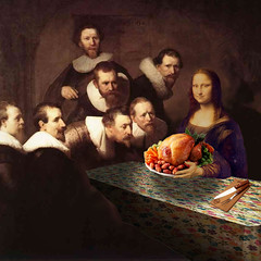 Hostess (jaci XIII) Tags: pintura renascença monalisa ceia comida peru painting renaissance supper turkey food