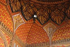 Ceiling Decoration - Tipu Sultan's Tomb & Mausoleum - Gumbaz Srirangapatna Mysore Kanataka India (WanderingPJB) Tags: flickruploaded orange india karnataka mysore tipusultan tomb mausoleum gumbaz srirangapatna decoration painting pattern colourfulworld cmwdorange