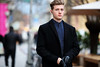 (graveur8x) Tags: man candid street portrait coat gloves eyecontact frankfurt germany deutschland streetphotography strase dof look blond bold cool people outdoor outside dark contrast canon canoneos6d canonef135mmf2lusm blueeyes bokeh f2 l