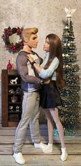 First Christmas Together (MaxxieJames) Tags: vittoria belmonte bastian hunter barbie ken mattel doll dolls collector fashionista fashion made move teresa christmas tree angel fairy couple