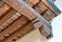 Wooden Beams (jpellgen (@1179_jp)) Tags: spanishmission church catholic chapel mission santafe newmexico travel roadtrip nm sf history architecture 2017 december winter nikon d7200 cross christianity sanmiguel saintmichael nrhp sanmiguelmission tlaxcalan sigma 1770mm