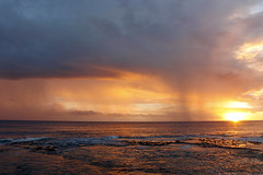 That Niuean Sunset (Magryciak) Tags: niue island islandlife travel trip holiday tropic hot sunset sun sky colour sea ocean reef rock water pacific orange canon eos