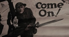 Come On! (Rand Luv'n Life) Tags: odc our daily challenge world war one military poster antique soldier bayonet gandhi peace nonviolence simone weil gravity grace text monochrome indoor composition violence