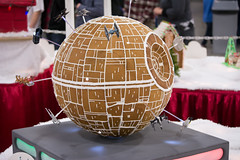 gingerbread death star (raspberrytart) Tags: festivaloftrees christmas gingerbread gingerbreadhouse gingerbreadcookie cookie candy decorating nikon d7100