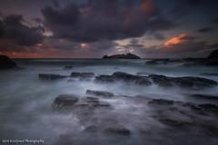 Godrevy Lighthouse (GKooijman70) Tags: lighthouse vuurtoren leefilters landscape landschap zonsondergang sunset langesluitertijd england engeland longexposure atlantic godvery cornwall