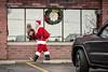 Damn, I Look Good in a Santa Suit! (Geoff Livingston) Tags: santa claus christmas wreath reflection vanity outofthebox flickrfriday