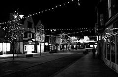 2017_358 (Chilanga Cement) Tags: fuji fujix100f xseries x100f fujifilm bw blackandwhite monochrome town night lights tree trees decorations christmas ormskirk lancashire