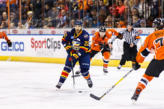 "Kansas City Mavericks vs. Colorado Eagles, December 16, 2017, Silverstein Eye Centers Arena, Independence, Missouri.  Photo: © John Howe / Howe Creative Photography, all rights reserved 2017. • <a style=""font-size:0.8em;"" href=""http://www.flickr.com/photos/134016632@N02/38428183414/"" target=""_blank"">View on Flickr</a>"