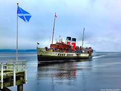 Scotland West Highlands Argyll the paddle steamer Waverley arriving at Blairmore village 22 August 2017 by Anne MacKay (Anne MacKay images of interest & wonder) Tags: scotland west highlands argyll paddle steamer waverley clyde sea blairmore village pier xs1 22 august 2017 picture by anne mackay