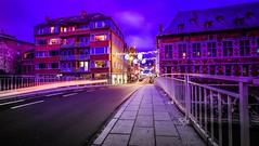 On the Road - 4274 (YᗩSᗰIᘉᗴ HᗴᘉS +11 000 000 thx❀) Tags: road bridge pont namur night bluehour light hensyasmine yasminehens blue belgium belgique 7dwf crazytuesdaytheme fence fences